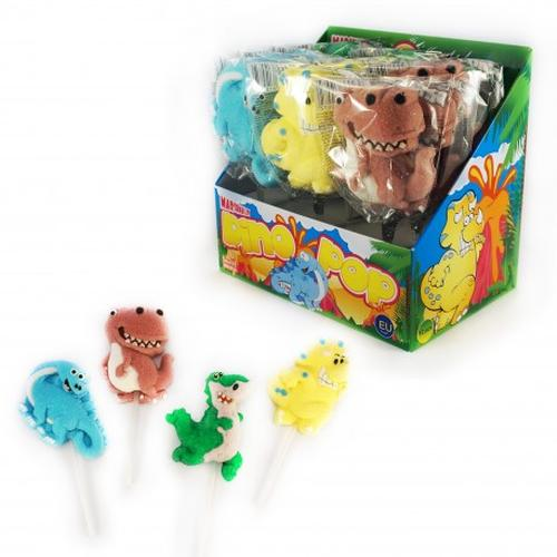 Marshmallows lollipops Dinosaurs